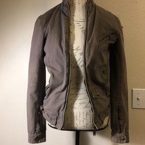 Levi Strauss Gray Military/Army Jacket Size S